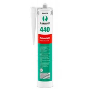 Glasprinter Empfehlung für Glasrückwände: RAMSAUER 440 Naturstein Dichtstoff 310 ml
